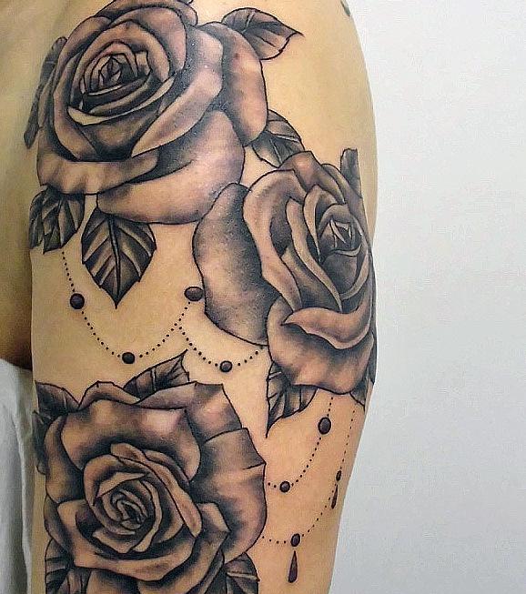 rosas pretas tatuagem flores cultura mix. Black Bedroom Furniture Sets. Home Design Ideas